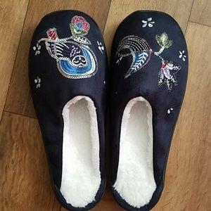 Vera Bradley Embellished Slippers Night Sky Owl